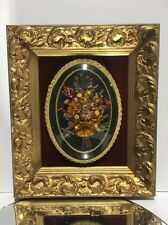 VTG.Antique Aesthetic Victorian Style Wood Picture Frame & Convex Bubble Glass