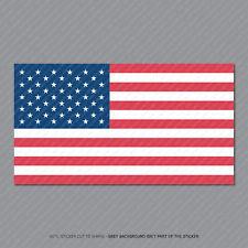 American Flag Sticker Die Cut Decal America USA 203mm x 111m - SKU2896