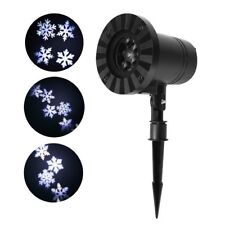 Outdoor Snowflake Laser Light LED Motion Projector Xmas Party Stage Xmas Lamp