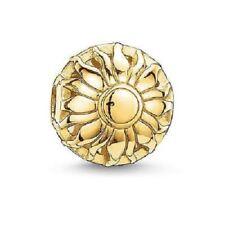 Thomas Sabo TK0015 Karma Bead Sun Sterling Silver 18k Gold Plated Charm RRP $119