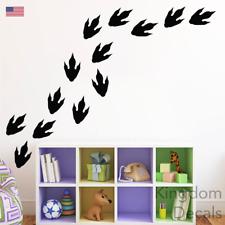 Dinosaur Wall Stickers Footprints Decals Vinyl Art x25 Kids Bedroom Removable
