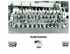 1989 SEATTLE SEAHAWKS  8X10 TEAM PHOTO WARNER KRIEG NFL FOOTBALL WASHINGTON USA