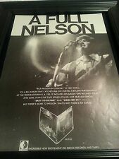 Rick Nelson Easy To Be Free Rare Original Promo Poster Ad Framed!