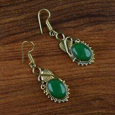 Flower Design Hanging Style Earring Agate Gemstone Statement Fashion Drop Dangle