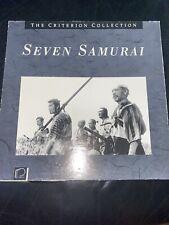 Seven Samurai The Criterion Collection Laserdisc Akira Kurosawa 4 Disks Rare!
