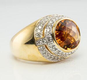Kristina Diamond Citrine Ring 18K Gold Band