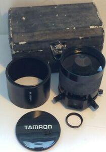 Tamron SP 500mm f/8 Tele Macro Mirror Camera Lens MC BBAR in case w/ Hood/Filter