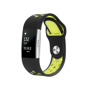 Replacement Silicone Sports Strap Wrist band Bracelet For Fitbit Charge 2 Item n