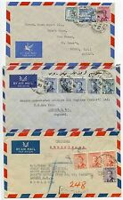 IRAQ 1950s REGISTERED + AIRMAIL 3 ENVELOPES to GB