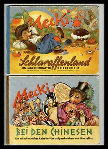 3 Mecki Bücher 1954, 1955, 1956