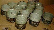 14 Somaware Somayaki Green Crackleware Hearts Double Wall Japan Pitcher 13 cups