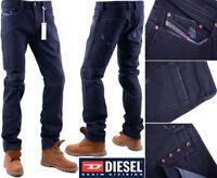 DIESEL PANTALONI W31 L32 EX-SAMPLE Mens Denim Jeans Regular Fit Straight
