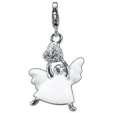 Charm Engel Anhänger Silber 925 für Bettelarmbänder Ketten  Echtschmuck Silber
