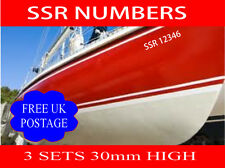 SSR Boat Graphic Names & numbers Vinyl Signs Decals 3 sets 30mm high