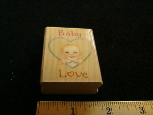 Baby Love Heart Wood Mounted Stamp All Night Media Susan Branch Designer