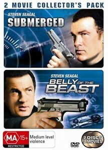 Steven Seagal Movie - Belly Of The Beast + Submerged (DVD 2 Discs) Action Movies