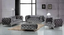 Meridian Mercer Sofa, Loveseat, and Chair Living Room Set. Available in 4 colors