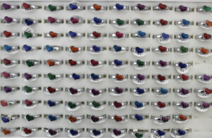 Wholesale Lots 70pcs Silver P Jewelry Alloy Heart Style Mixed Enamel Lady's Ring