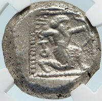 TARSOS in CILICIA Authentic Ancient 420BC Silver Greek Coin w SATRAP NGC i84251