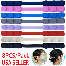 8pcs Face Mask Ear Saver Strap Extender Hook Extension Adjustable Silicone Usa