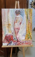 "Old Master-Art Antique Oil Painting Reproduction  Nude Girl on Canvas 24""x20"""