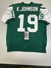 Keyshawn Johnson Jets Autographed Jersey Football JSA Certified