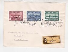 1937 Reg.cover with full set of ship stamps    f823