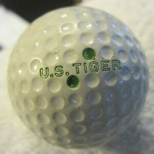 Vintage US Tiger Golf Ball green Dot,rare variety