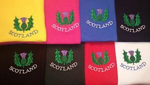 THISTLE DESIGN EMBROIDERED ON A HOODED SWEATSHIRT SCOTLAND SCOTTISH SCOTS