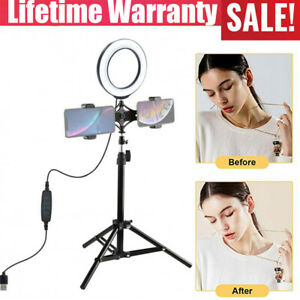"""6.2"""" Selfie LED Ring Light with Dual stand phone holder for Live vedio Makeup"""
