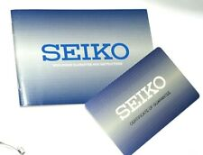 SEIKO WATCH 1 YEAR WORLDWIDE GUARANTEE & INSTRUCTIONS UNUSED UNDATED