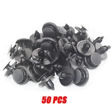 50X 7mm Black Bumper Hood Fender Splash Guard Retainer Clip Fastener For Toyota