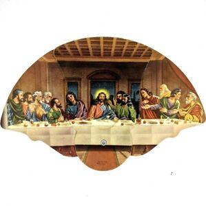 1950s Waterloo IA Kearns Dykeman Church The Last Supper Folding Hand Held Fan 1R
