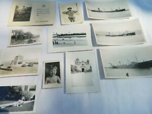 Mixed Lot Misc. Black & White Photos 1940s - 1960 Ships, Military Men, Others