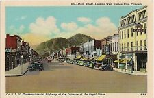 Main Street Looking West in Canon City CO Postcard