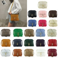 Women's Shoulder Bag Crossbody Shell Tassel Leather Messenger Satchel Purse Tote