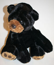 "Aurora World Black Bear Cub Flopsie Plush 9"" Stuffed Animal Toy"