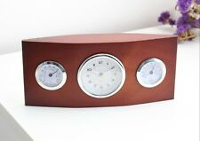 Clasical Wooden Desk Table Clock Temperature Humidity Display Business Gift Idea