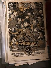 The Goonies - Tyler Stout - Gold Variant Signed Numbered Stamped Mondo artist