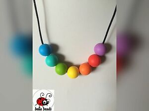 Silicone Sensory (was teething) Necklace for Mum Jewellery Beads Aus Gift Presen