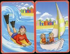 FOREVER CLOVER SWAP CARDS X2  SAILING AND SURFING THE SEA NO. 160, 161