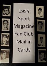 1955 SPORT MAGAZINE FAN CLUB MAIL IN OFFER BASEBALL cards $9.99 each
