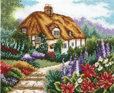 Anchor Punto De Cruz Kit-casa rural jardín En Flor-PCE593