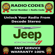 UNLOCK RADIO CODES JEEP DODGE STRATUS STEREO T00 AM CODE RADIO DECODING SERVICE