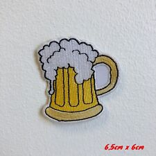 Beer Mug Cold Embroidered Iron Sew on Patch #1806