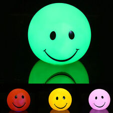 LED Cute Smile Face Baby Kids Night Light Bedroom Lamp Xmas Gift Color Changing