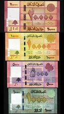 Lebanon 4 Pcs SET, UNC, 1000 5000 10000 20000 Livres 2014 to 2019, P-90-91-92-93