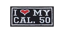 I Love my Caliber 50 Biker Heavy Rocker Patch Aufnäher Kutte Motorrad Badge Gun