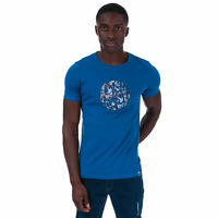 Mens Pretty Green Nightshade Applique T-Shirt in Blue.