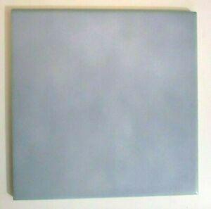 """Florida FT USA 8"""" Sq. 1970s Satin Sky Light Blue Porcelain 1 Floor Tile Vintage"""